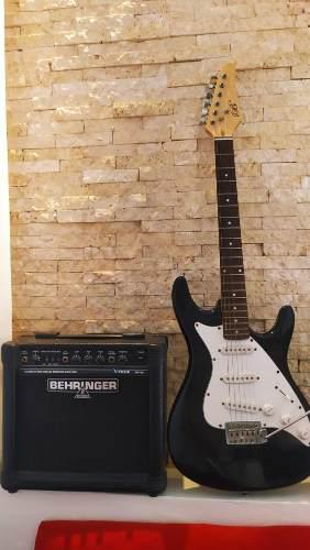 Guitarra eléctrica americana. amplificador behringer gm-108