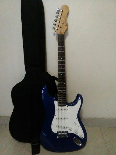 Guitarra electrica fretmaster k-series con forro, poco uso