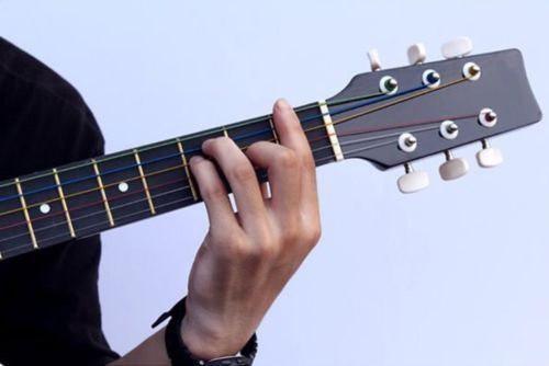 Set 6 cuerdas guitarra acustica cuerdas de colores