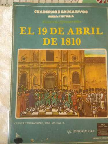 Comic educativo venezolano, el 19 de abril de 1810