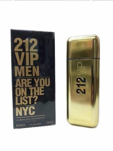 Perfume 212 vip men caballero 100ml carolina herrera