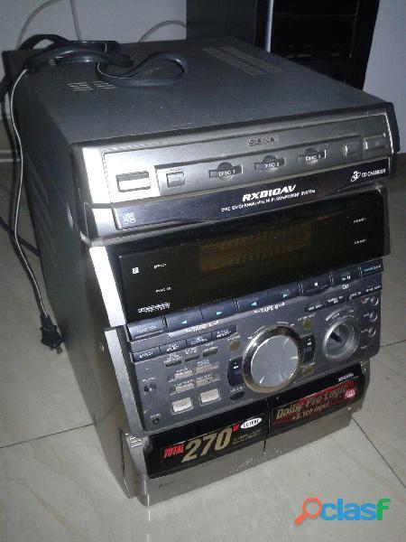 Equipo sonido / mini componente / sony modelo hcd rxd10av 270w