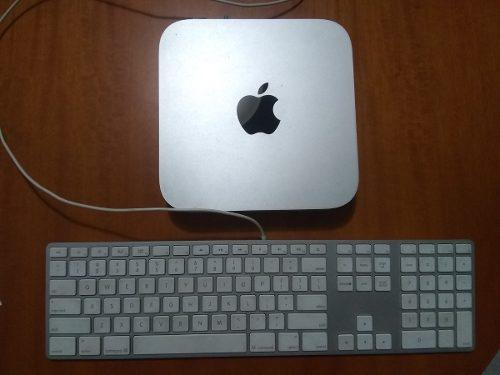 Mac mini 5i 4 gb ram dd 500 gb con teclado