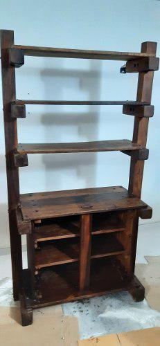 Ceibo biblioteca mueble madera pino en 20vds