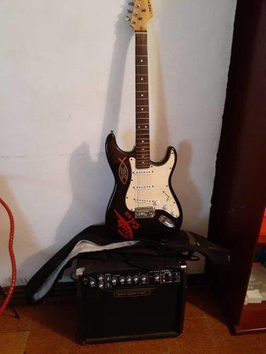 Guitarra eléctrica aria con amplificador stg-series