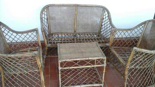 Juego de muebles usados de mimbre o rattan