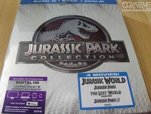 Jurassic park collection 3d bluray + bluray + dh box set new