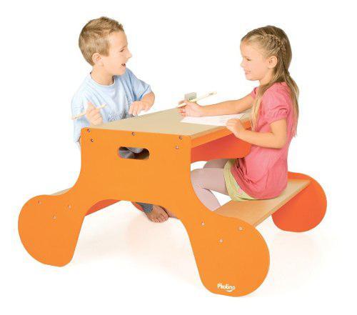 Mesa centro actividades p/ niños craft table doble imp