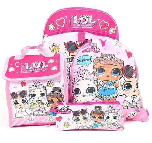 Muñecas lol surprise bolso escolar 5 piezas niñas original