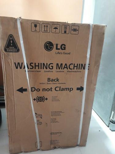 Lavadora lg fuzzy logic de 15 kg nueva turbo drum nueva