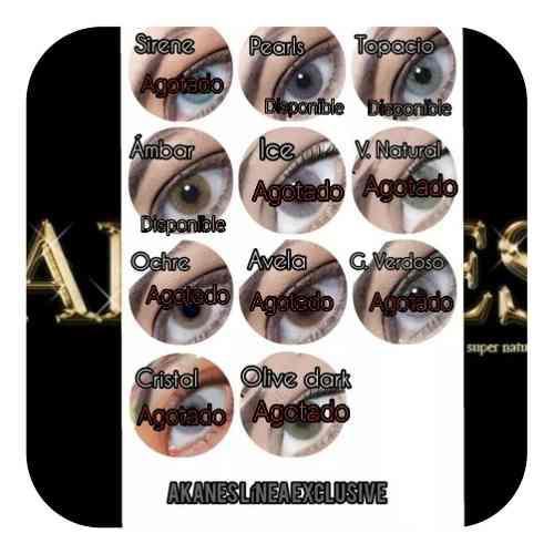 Lentes de contactos akanes cosmetic