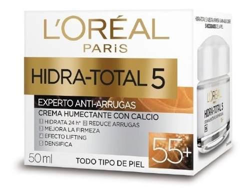 Loreal hidratotal 5 crema humectante calcio 55+ antiarrugas