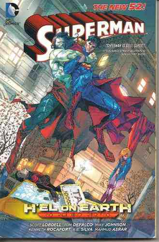 Superman the new 52 h'el on earth 328 paginas