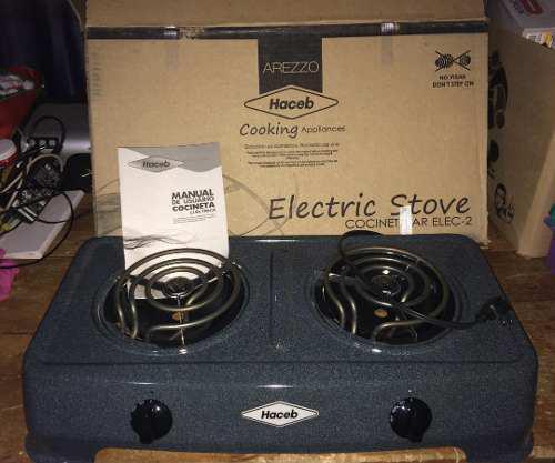 Cocina electrica 2 hornillas marca haceb