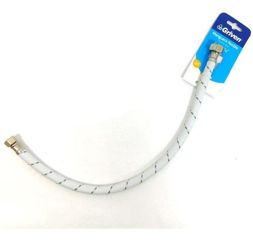 Manguera flexible 1/2 x 9/16 50cm para plomeri 7674 4 pzs