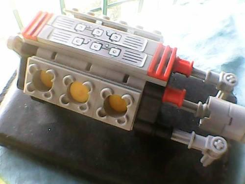 Motor 6 cilindros completo lego technic 8285 (30vs)