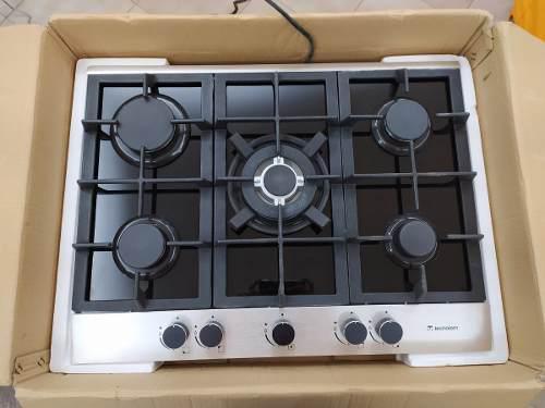 Tope de cocina de 5 hornillas a gas tecnolam nueva