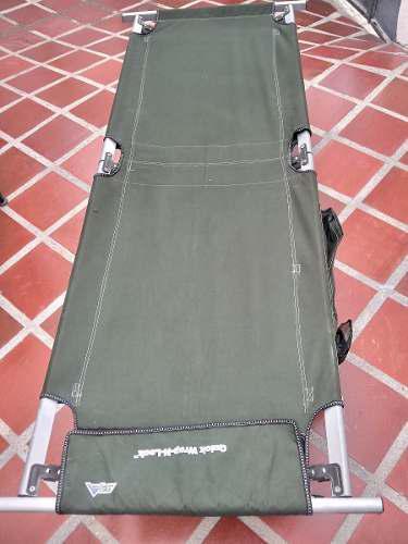 Cama catre de camping de campaña verde