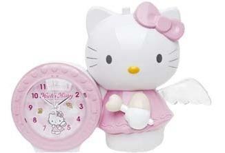 Reloj despertador alarma hello kitty angel regalo niña