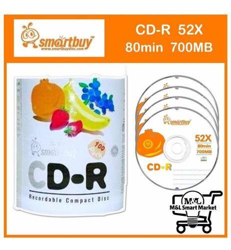 Cd smartbuy virgen 700mb 80min velocidad 52x pack 100