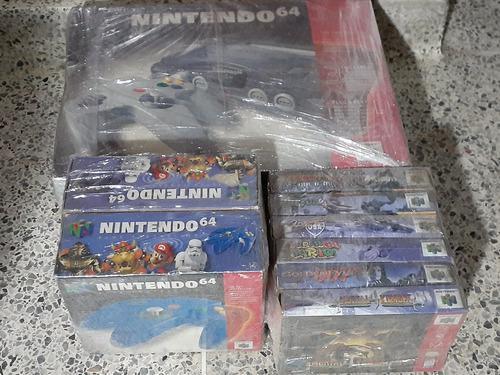 Nintendo 64 con 6 juegos, accesorios