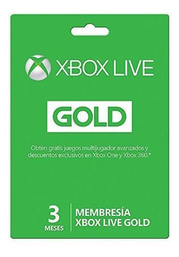 Tarjetas xbox live gold