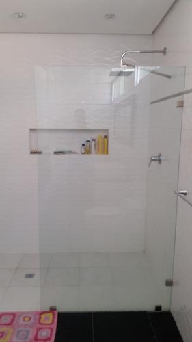 Panel para puerta vidrio templado / panel fijo para baño