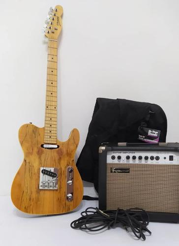 Guitarra eléctrica modelo telecaster.amplificador fretmaste