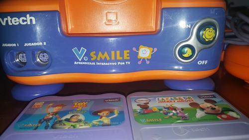 Consola de video vtech v. smile con 2 juegos y un control