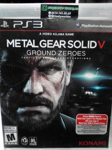 Juegos ps3 metal gear solid v ground zeroes somos tienda