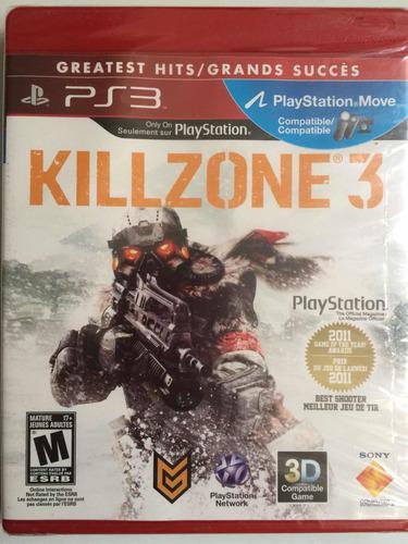 Killzone 3 playstation 3 ps3 juego nuevo nunca abierto
