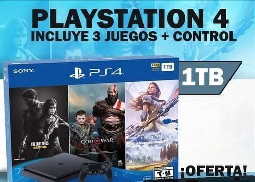 Playstation 4 1 tb más tres juegosnuevo oferta 340 verd