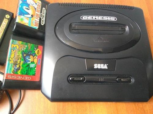 Sega génesis original 1 control, 3 juego, sin adaptador