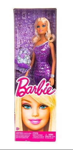 Barbie Glitz Bello Vestido Morado Brillante La Mas Buscada