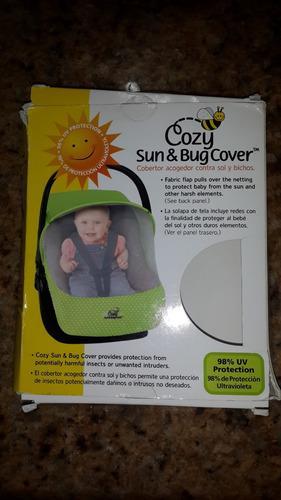 Cobertor para portabebé contra sol y bichos nuevo