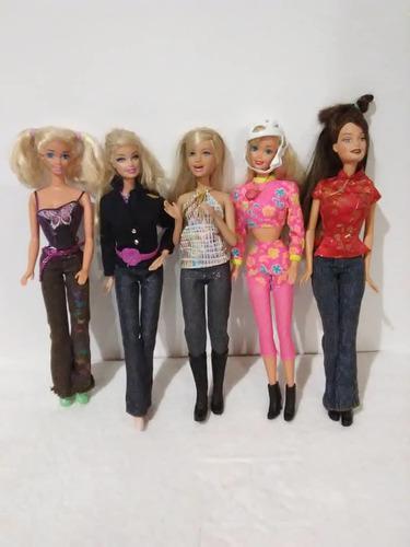 Muñecas Barbie Originales, 5 Modelos, Casi Nuevas.