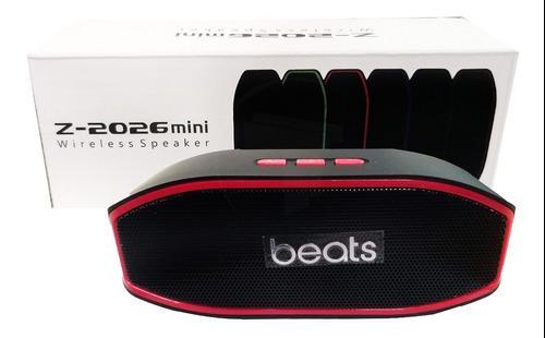 Cornetas Inalambricas Beats Z2026 Mini Rojo