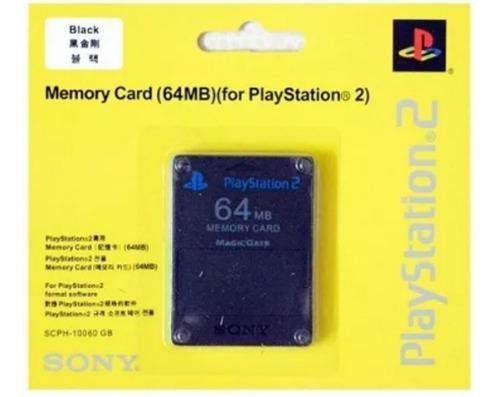 Memory Card 64 Mb Playstation 2 Y Slim Ps2 Mayor Y Detal.