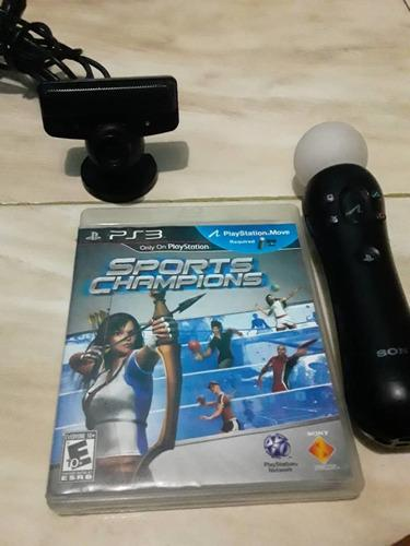 Motion Controller Ps3, Ps3 Eye Y Juego Sport Champions