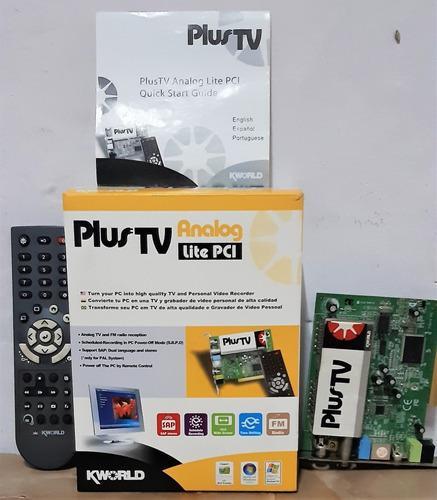Tarjeta capturadora de tv interna pci plus tv analog kworld
