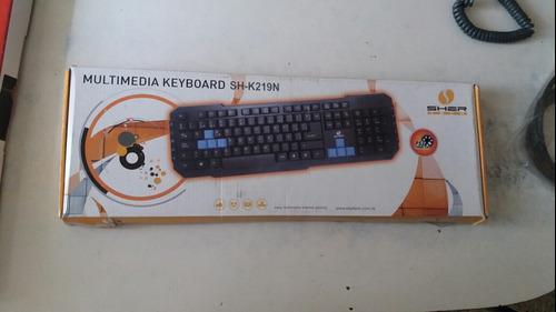 Teclado Ps2 Marca Sher Multimedia Keyboard Sh-k219n.