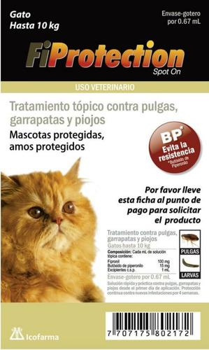 Pipetas para gatos hasta 10kg garrapatas piojos pulgas larva