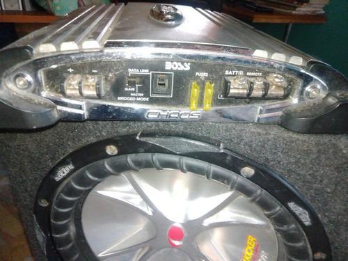Planta monoblock bajo y batería de equipo de sonido de