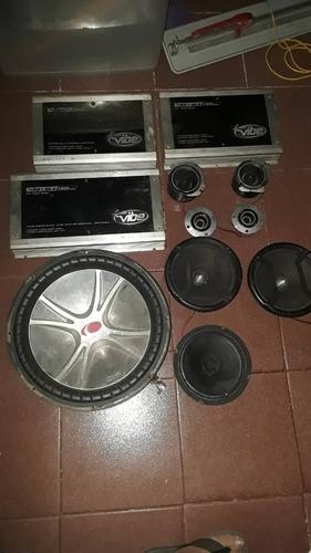 Remato equipo de sonido completo para vehiculo 300lechug