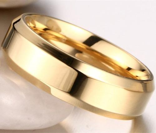 Anillo de boda matrimonio acero inoxidable x unidad