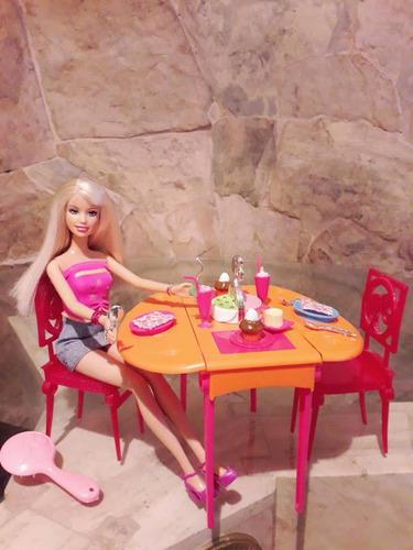 Barbie juego de comedor original mattel