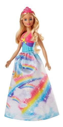 Juego juguete barbie dreamtopia rainbow cove princess doll