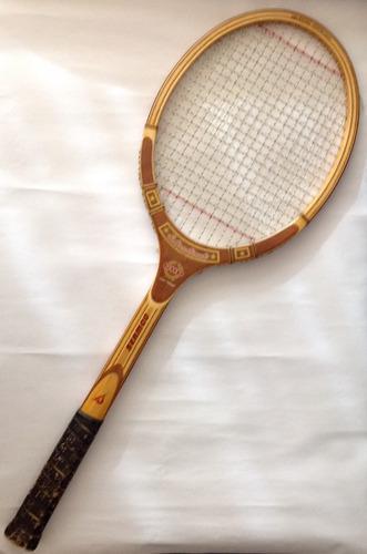Raqueta de tenis de madera seanco de colección