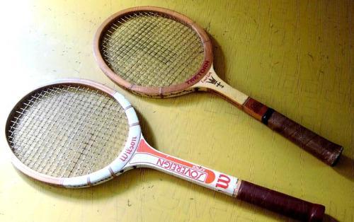Raquetas de tenis junior de madera wuilson y triton