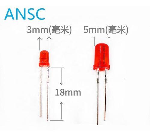 30 diodos leds 5mm y 30 de 3mm rojos